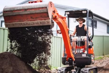 Mini excavator hire business