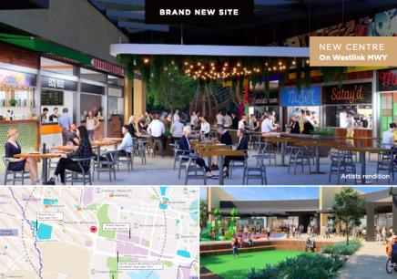 New Degani cafe restaurant at Eastern Creek Qtr Shopping Centre Alfresco area