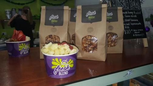 Fresh Blend superfood smoothies, salads and acai bowls franchise opportunity gre