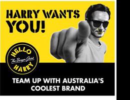 Harry WANTS YOU!! Hello Harry The Burger Joint is the newest Restaurant in town!