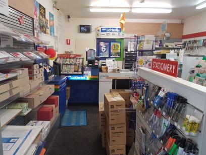 LPO, Lotto and Newsagency. 1 Terminal.