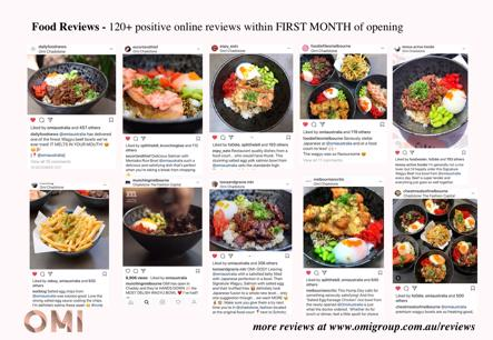 Hot new franchise - Premium Japanese fusion food OMI Eastland & Knox coming soon