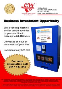 Digital Vending Machines Business For Sale (Australia Wide)