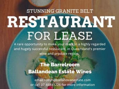Stunning Granite Belt Restaurant for Lease