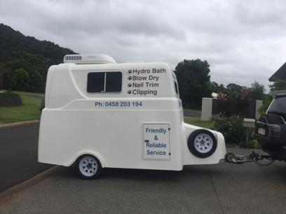 Mobile Dog Wash and Grooming Cairns - Luxury Air-Conditioned Fibreglass Trailer