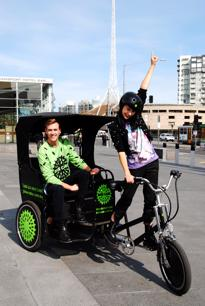 Melbourne Bike Cabs eco-friendly bicycle business.