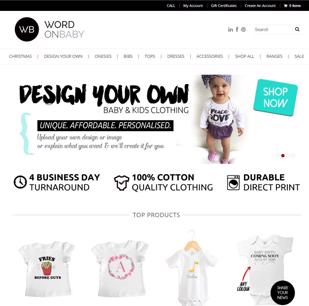 Online Personalised Baby, Kids & Adult Clothing Business
