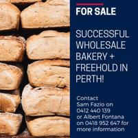 Successful wholesale bakery + freehold in Perth!
