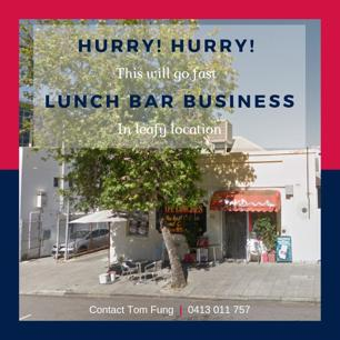 Lunch Bar in leafy location
