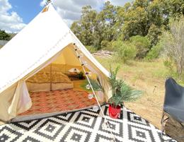 Glamping business, Perth based mobile glamping service with low overheads