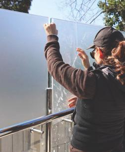 Mobile Frosted Glass Film Installation  Melbourne, VIC