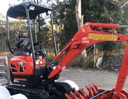 Machine and Mini excavator hiring needs - Diggermate, QLD