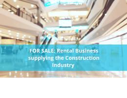 HIRE BUSINESS SERVICING CONSTRUCTION INDUSTRIES IN 3 COUNTRIES